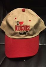 I HEART INTERCOURSE KHAKI WITH RED BILL CAP HAT NEW