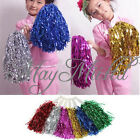 1 Pair Metallic Cheerleader Dance Party Dress Sport Pom Poms Cheerleading E