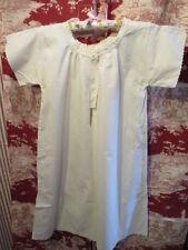 Antico Francese Ragazze Camicia Da Notte, overdress, Sottoveste inutilizzati Vittoriano Contadino