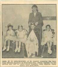 1954 Fairy King Dennis Angilley Trethowel Fete Judy Squires Julia Snell