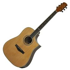 New Martinez Buskers Acoustic-Electric Cutaway Guitar with Drum Machine