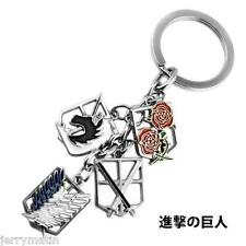 Anime Attack on Titan 4 Corps Logo Metal Keychain Key Ring Pendant Jewelry Toy