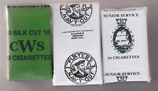 WW2 SET OF 3 DUMMY BRITISH HOMEFRONT ECONOMY SOFT  CIGARETTE PACKETS (REPRO)