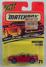 HC Matchbox MB 71 Superfast 1994-2004 Ford Mustang Cobra Convertible Scale Model