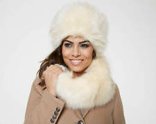 Faux Fur Russian Cossack Ladies Fashion Hat Winter Ski Accessory Made In Italy