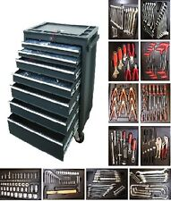 12 US PRO BLACK STEEL HEAVY DUTY TOOL BOX / CHEST WITH TOOLS/TOOLBOX CABINET