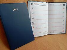 Wochen Taschenkalender 2017 flach ca.16x9 cm 1 Woche auf 1 Seite Kalender 2017 $