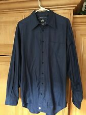AWESOME NORDSTROM THE NATURAL STYLE SZ L SHIRT NECK 16 Made In Hong Kong. NICE!!