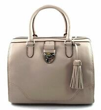 NWT RALPH LAUREN  LEATHER BEVINGTON BARREL PORCINI GREY SATCHEL BAG $228