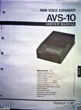 Yamaha AVS-10 AWM Voice Expander Sound Module Original Service Manual Book