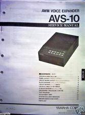Yamaha AVS-10 AWM Voice Expander Sound Module Original Service Manual Book
