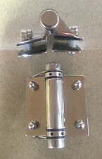 Glass Pool Fence Gate Hinge - 316 Stainless Steel, Self Closing