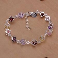 beautiful Fashion 925 Sterling silver crystal wedding women cute bracelet H220