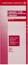 NORTHWEST AIRLINES - FREQUENT FLYER TIMETABLE - 1 MAY 1991