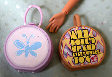 #17# lot of two BARBIE or Barbie type doll purses, handbags