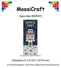 MosaiCraft Pixel Craft Mosaic Art Kit 'Spaceman' Spring (Incl. Dove Tail Clips)