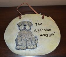 """Crazy Mountain Wall Plaque The Welcome Waggin' 7.5"""" by 6""""  Wall Hanging"""