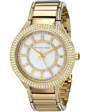 Michael Kors Kerry Goldtone Stainless Steel MOP Dial Crystal Accent Watch MK3312