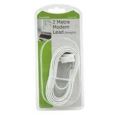 Lloytron A446 2m Home Office Fax xDSL Modem Telephone Cable Lead White Straight