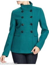 New Womens XL X-Large Old Navy Teal Cropped Peacoat Pea Coat  XXL