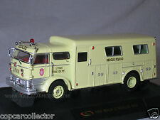 Signature 1/50 1960 Mack C Rescue Squad Fire Truck - LYNN FD - Yellow - 32425