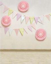 Pink Bunting Fan Di Carta Festa Sfondo Sfondo in vinile Photo Pro 5x7ft 150x220cm