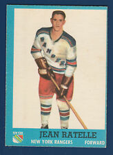 JEAN RATELLE  62-63 TOPPS 1962-63 NO 58 EX++