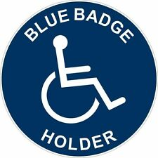 Blue Badge Holder Disability Mobility Sticker Decal Graphic Vinyl Label
