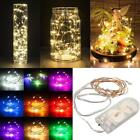 20/30/40/50 LED Battery Powered String Wire Fairy Lights Lamp Xmas Wedding Party