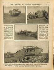 Tank Chars Panzers Tommies Soldiers British Army Bataille de la Somme 1916 WWI