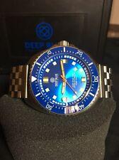 Deep Blue Deep Star 1000 Blue Ceramic Bezel Swiss Automatic Mens Watch Dive