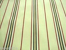 Cream Black Red  Curtain Ticking Striped Fabric  214cm per/mtr -CLEARANCE PRICE