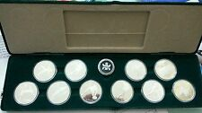 Willie: Canada  1988 Silver Proof set winter Olympic