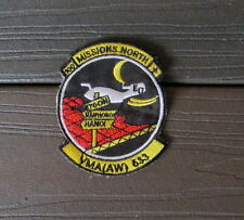 "VIETNAM WAR PATCH-US MARINES VMA(AW) 100 BOMB MISSIONS NORTH ""HANOI"" PATCH"