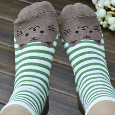 3D Animals Striped Cartoon Socks Women Cat Footprints Cotton Socks Floor 2016