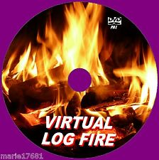 VIRTUAL CRACKLING LOG FIRE VIDEO DVD 9 WARM FIRE SCENES FOR FLAT SCREEN TVs NEW