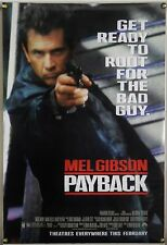 PAYBACK DS ROLLED ADV ORIG 1SH MOVIE POSTER MEL GIBSON RICHARD STARK (1999)