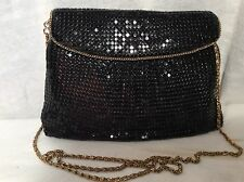 Black Steel Mesh Evening Handbag Purse Clutch