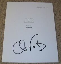 CHRIS NOTH SIGNED LAW AND & ORDER 66 PAGE EPISODE SCRIPT w/PROOF AUTOGRAPH