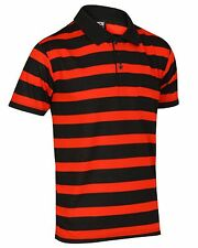 BRAND NEW MENS STRIPED POLO T SHIRT SHORT SLEEVE REGULAR FIT CASUAL SIZE S-3XL