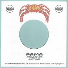 CRAB REPRODUCTION RECORD COMPANY SLEEVES - (pack of 10)