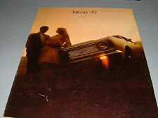 1970 FORD FALCON Sales Brochure, Photos, Features, Options, FREE SHIPPING!