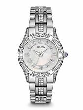 Bulova Women's 96L116 Swarovski Crystals Mother of Pearl Dial Quartz Dress Watch