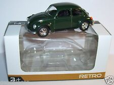 RARE NOREV 3 INCHES 1/54 VW VOLKSWAGEN KAFER 1303 COX COCCINELLE VERT FONCE BOX