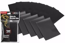 400 Black Matte Deck Guard Card Sleeve Protector - Ultra High Quality