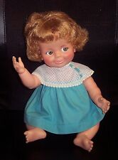 "Vintage 16"" Doll ""Baby Giggles"" 1968 Ideal Toy Company No Giggle No Wiggles GUC"