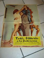 FOTOBUSTA,1957, Abbe Lane TOTO' VITTORIO E LA DOTTORESSA ,DE SICA TOTO'