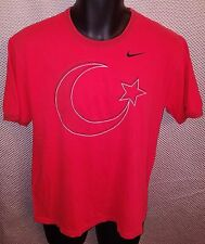 Turkey National Soccer Team Red Stitched Nike T-Shirt EUC - Mens Medium/Small