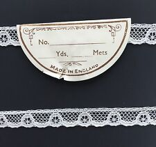 Vintage Lace - English Cream Color Nylon Lingerie Lace,  Sold by the yard