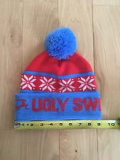 Ugly Sweater Run: Blue & Red Pom Pom Winter Hat Party/Contest